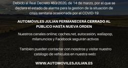 COMUNICADO AUTOMÓVILES JULIAN